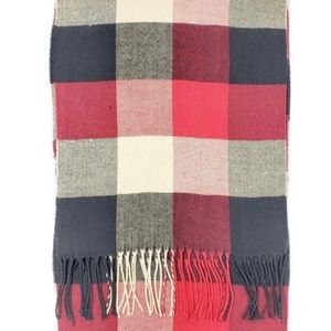 NWT Mens Plaid Lightweight tassels Scarf